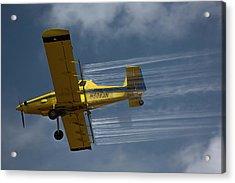 Crop Duster Spraying Pesticides Acrylic Print