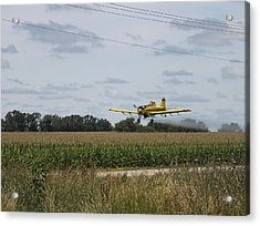 Crop Dusting 2 Acrylic Print by Victoria Sheldon