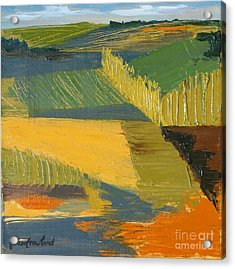 Acrylic Print featuring the painting Crop Fields by Erin Fickert-Rowland