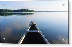 Cropped Image Of Boat Sailing On River Acrylic Print by Tania Wood / Eyeem