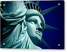 Cropped Image Of Statue Of Liberty Acrylic Print by Frank Schiefelbein / Eyeem