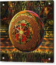 Croquet Crochet Ball Acrylic Print