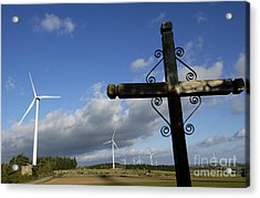 Cros And Winturbine Acrylic Print by Bernard Jaubert