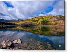 Crosho Lake Reflection Acrylic Print by John McArthur