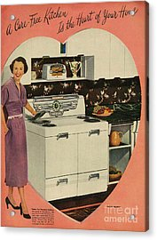 Crosleys  1950s Uk Cookers Kitchens Acrylic Print by The Advertising Archives