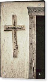 Cross And Doorway Acrylic Print