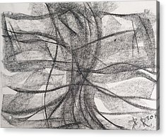 Cross Acrylic Print by Arthur Right