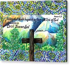 Cross Acrylic Print by Catherine Saldana