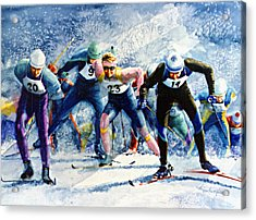 Cross-country Challenge Acrylic Print by Hanne Lore Koehler