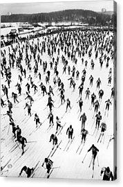 Cross Country Ski Race Acrylic Print