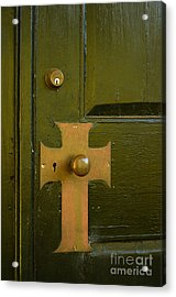 Cross Door Plate Acrylic Print