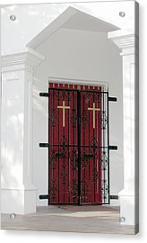 Key West Church Doors Acrylic Print