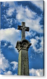 Acrylic Print featuring the photograph Cross Face 3 by Lesa Fine
