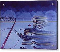 Cross Ice Pass Acrylic Print by Ken Yackel