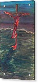 Cross Impression 1 Acrylic Print by Mark Minier