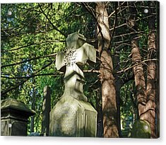 Cross In The Forest Acrylic Print by Felix Concepcion