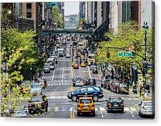 Cross Manhattan - 42nd Street Acrylic Print