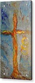 Cross Of Endless Love Acrylic Print