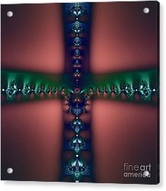 Cross Of The Dark Realms Acrylic Print by Maurice King