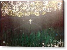Cross On The Mountain Acrylic Print by Willard Hashimoto