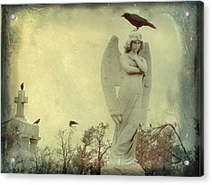 Cross Or Angel Acrylic Print by Gothicrow Images