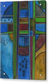 Acrylic Print featuring the painting Cross Roads by Nicole Nadeau