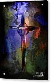 Cross With Crown. Acrylic Print by Andrzej Szczerski