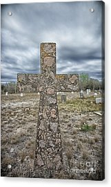 Cross With No Name Acrylic Print by Erika Weber