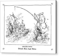 Crossed Paths Gericault Meets Izaak Walton Acrylic Print