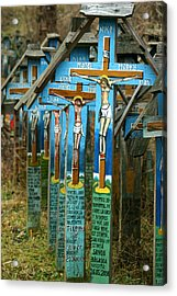 Crosses In An Orthodox Graveyard Acrylic Print