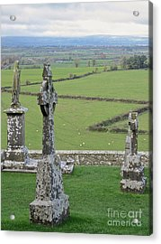 Acrylic Print featuring the photograph Crosses Of Cashel by Suzanne Oesterling