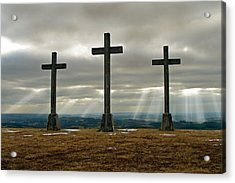 Acrylic Print featuring the photograph Crosses by Rod Jones