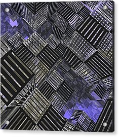 Crosshatch Acrylic Print by Peter J Sucy
