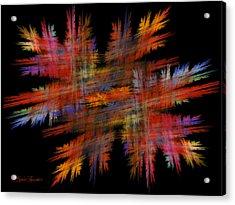 Crosshatch Acrylic Print by Sylvia Thornton