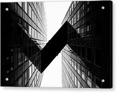 Crossing | La Defense Acrylic Print by © Giulio R.c.