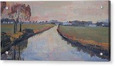 Crossing Hoofdwetering Vamerenweg Acrylic Print