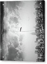 Crossing Acrylic Print by Ivan Marlianto