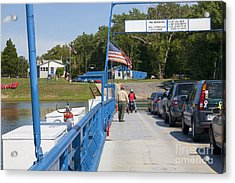 Crossing The Potomac On White's Ferry From Virginia To Maryland Acrylic Print by William Kuta