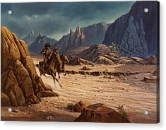 Acrylic Print featuring the painting Crossing The Border by Michael Humphries
