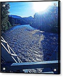 Acrylic Print featuring the photograph Crossing The Final Bridge Home by Joseph J Stevens