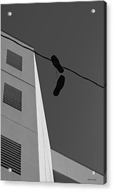 Acrylic Print featuring the photograph Crossing The Line - Urban Life by Steven Milner
