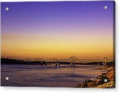 Crossing The Mississippi Acrylic Print by Barry Jones