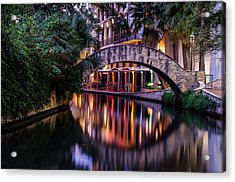 Crossing The River Acrylic Print by Jeffrey Spencer