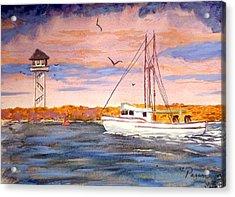 Crossing The Tillamook Bay Bar Acrylic Print