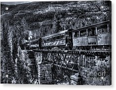 Crossing The Tressel Acrylic Print by Steven Parker