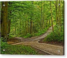Crossroads After A Night Of Rain Acrylic Print by Martin Liebermann