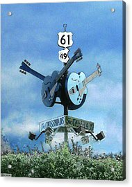 Acrylic Print featuring the photograph Crossroads In Clarksdale by Lizi Beard-Ward
