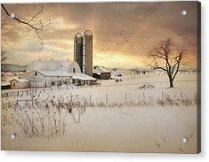 Crossroads Sunset Acrylic Print