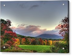 Crotched Mountain Autumn Sunset Acrylic Print by Joann Vitali
