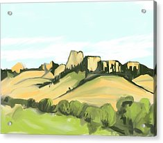 Crow Butte Acrylic Print